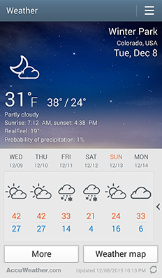 Let It Snow With the Accuweather Gem - Aschenblog